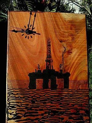 Oil Platform Original by Calixto Gonzalez