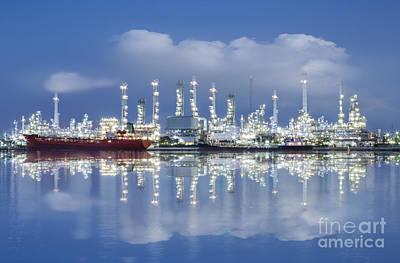 Oil Refinery Industry Plant Print by Setsiri Silapasuwanchai