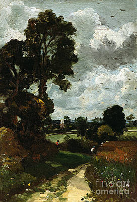 Oil Sketch Of Stoke-by-nayland Print by John Constable