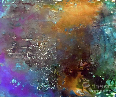 Abstract Handbag Painting - Oil Spill by Jilian Cramb - AMothersFineArt