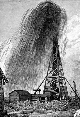 Flowing Wells Photograph - Oil Well, 19th Century by