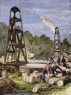 Oil Well, 19th Century Print by Granger
