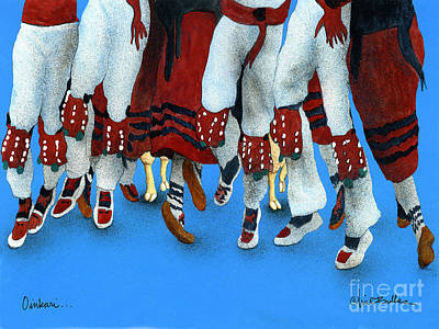 Basque Painting - Oinkari by Will Bullas