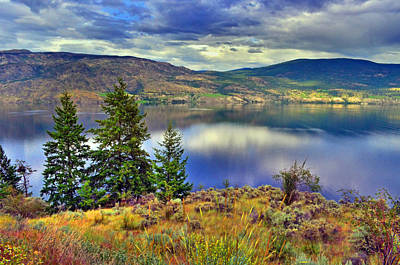 Photograph - Okanagan Lake In The Early Evening by Tara Turner