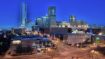 Okc Blue Panorama Print by Frozen in Time Fine Art Photography