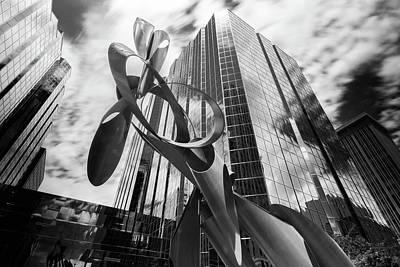Clouds Photograph - Okc Sculpture by Nathan Hillis
