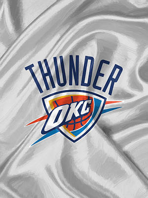 Oklahoma City Thunder Print by Afterdarkness