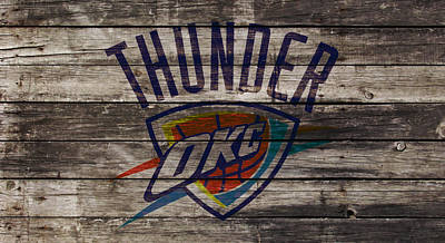 Oklahoma City Thunder Mixed Media - Oklahoma City Thunder by Brian Reaves