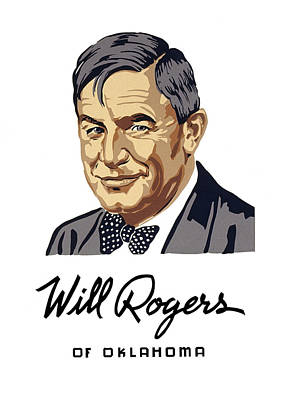 Depression Mixed Media - Oklahoma's Favorite Son - Will Rogers by Daniel Hagerman