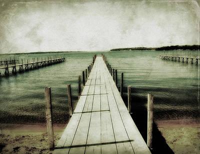 Okoboji Docks Print by Julie Hamilton