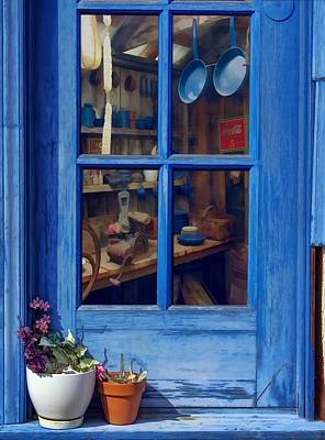 Ol' Country Store Window Print by Chrystyne Novack