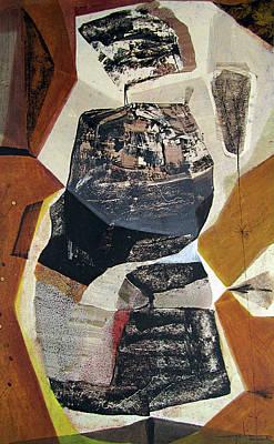 Intuition Painting - Ol1957bo001 Abstract Landscape Of Potosi Bolivia 22 X 36 by Alfredo Da Silva