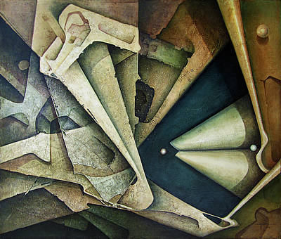 Cosmos Painting - Ol1976ny001 Sideral Space 58x49 by Alfredo Da Silva