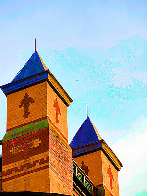 Church Pillars Painting - Olana 2 by Lanjee Chee
