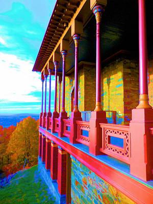 Church Pillars Painting - Olana 7 by Lanjee Chee
