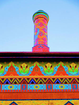 Church Pillars Painting - Olana 8 by Lanjee Chee