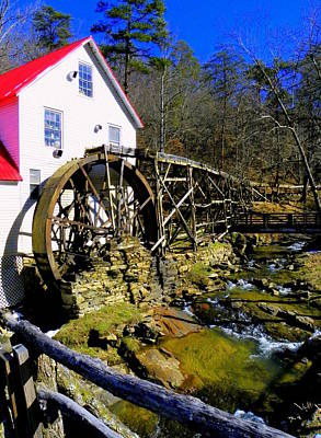 Old 1886 Mill Print by Karen Wiles