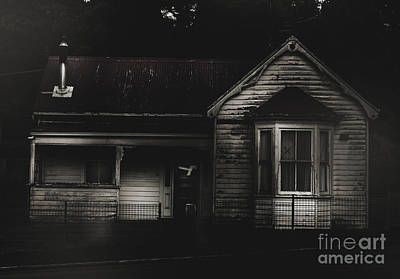 Old Abandoned Haunted House Of Horrors Print by Jorgo Photography - Wall Art Gallery