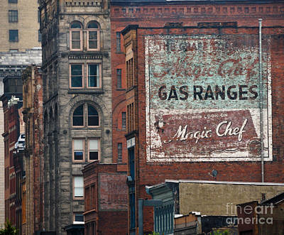 Old Advertisement On A Building In Pittsburgh Pennsylvania Print by Amy Cicconi