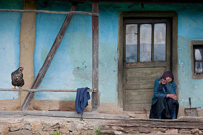Old Houses Photograph - Old And Blue by Codruta Georgescu