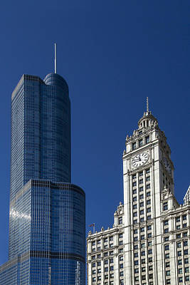 Wrigley Photograph - Old And New by Andrew Soundarajan
