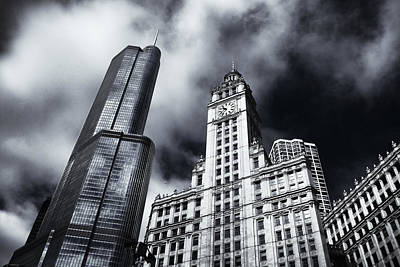 Vertical Photograph - Old And New Chicago by Andrew Soundarajan