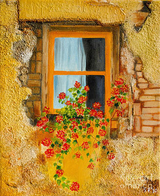Painting - Old Antique Window. by Fine art Photographs