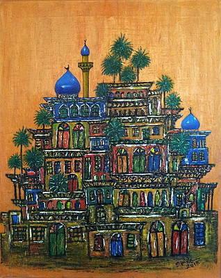 Baghdad City Painting - Old Baghdad by Siran Ajil