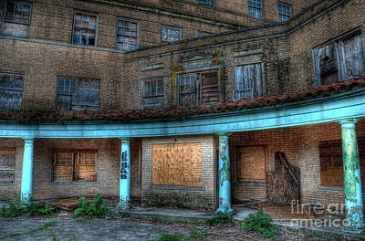 Ghost Photograph - Old Baker Hotel Hdr 2 by Hilton Barlow