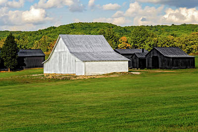 Old Barn And Sheds Passing Time On A Warm Kentucky Day  -  Kybarn596 Print by Frank J Benz