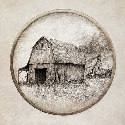 Old Barn Print by Eric Fan
