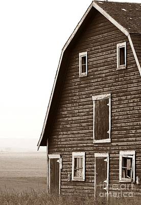 Old Barn Front Print by Mario Brenes Simon