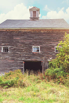New England Barns Photograph - Old Barn In The Sun by Edward Fielding
