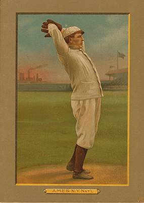 Baseball History Painting - Old Baseball Card by FL collection