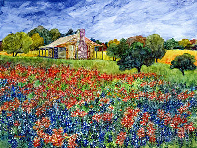 Texas Hill Country Painting - Old Baylor Park by Hailey E Herrera
