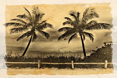 Old Beach Print by Debra and Dave Vanderlaan