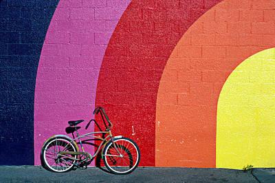 Handlebar Photograph - Old Bike by Garry Gay