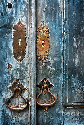 Old Blue Door Print by Carlos Caetano