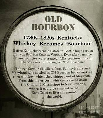 Black And White Photograph - Old Bourbon by Mel Steinhauer