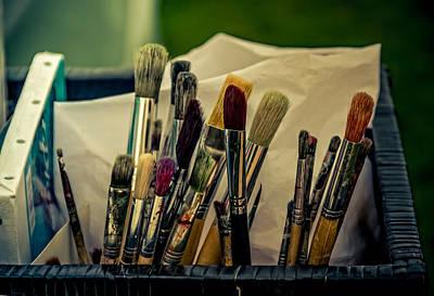 Old Brushes Print by Odd Jeppesen