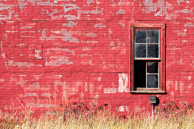 Old Building Red Wall Print by Todd Klassy