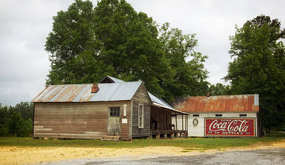 Coca-cola Sign Photograph - Old Buildings In Burnt Corn Alabama by Mountain Dreams