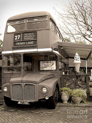 Old Bus Cafe Print by Eena Bo