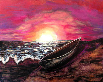 Old Canoe Original by Deb Wolf