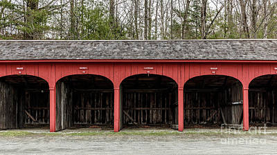 Old Carriage Shed Lyme New Hampshire Print by Edward Fielding
