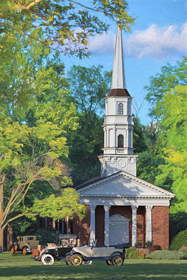 Old Chapel On The Green Print by Susan Rissi Tregoning