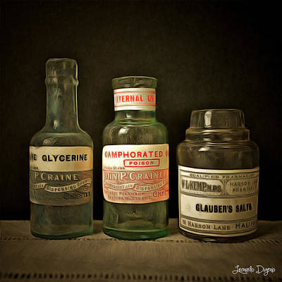 Atom Digital Art - Old Chemist - Da by Leonardo Digenio
