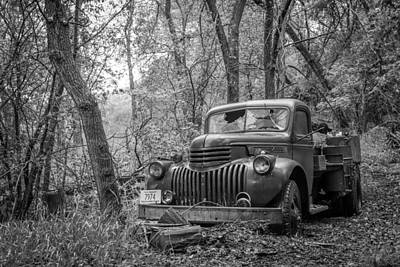 Old Chevy Oil Truck 2 Print by Chad Rowe