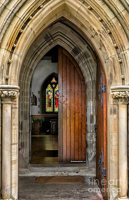 Old Church Entrance Print by Adrian Evans