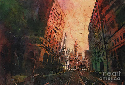 The Downtown Gallery Painting - Old City Hall- Philadelphia by Ryan Fox